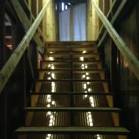 Stairway to the Loft Greets Guests