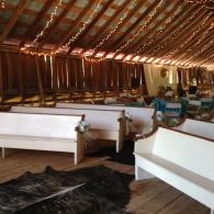 Long View of the Barn Wedding and Reception Area
