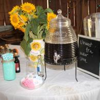 Beverage Table Featuring both Sweet and UNsweet Tea