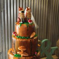 Rustic Country Wedding Cake